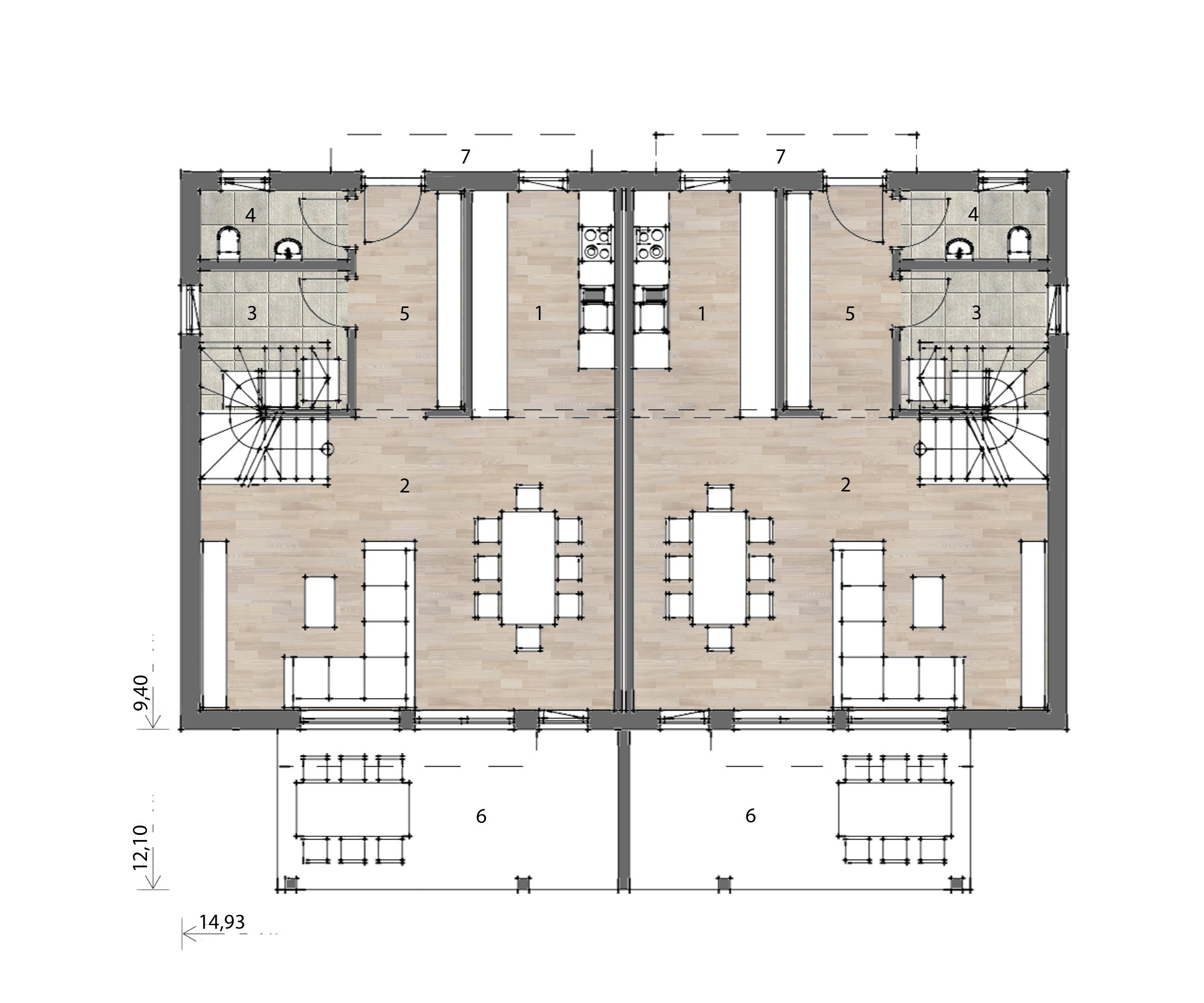 Flex Fertighaus Stockhaus 122 Grundriss EG