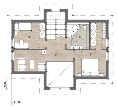 Flex Fertighaus Mansardenhaus 126 OG