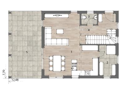 Flex Fertighaus Stockhaus 136 Grundriss EG