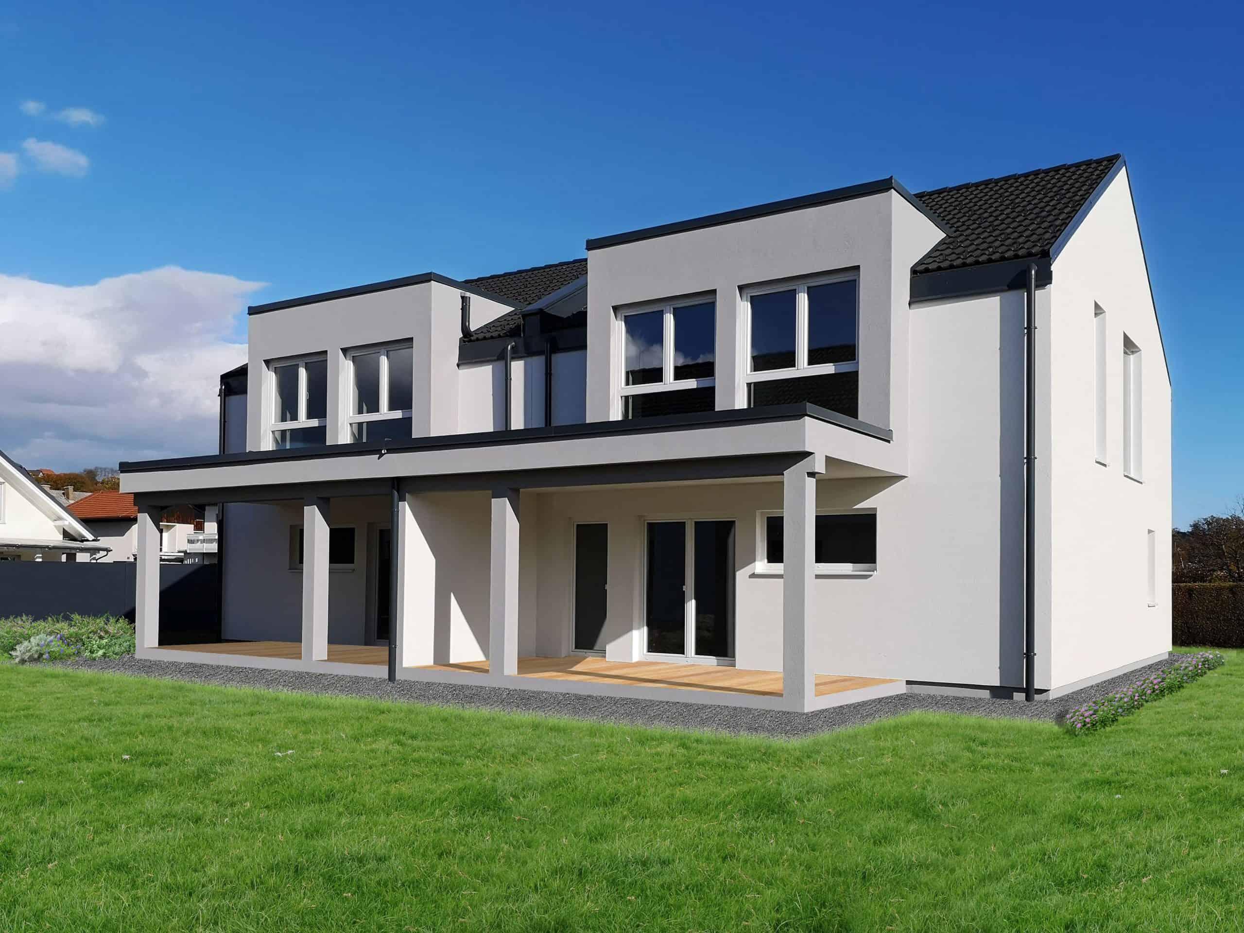 Fertighaus Doppelhaus Flex 122